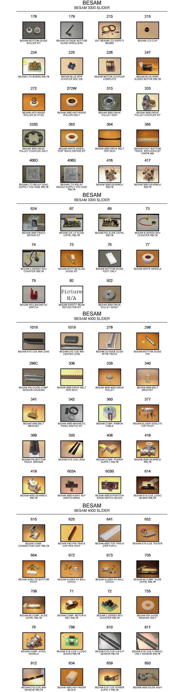 Besam automatic door parts catalog 1