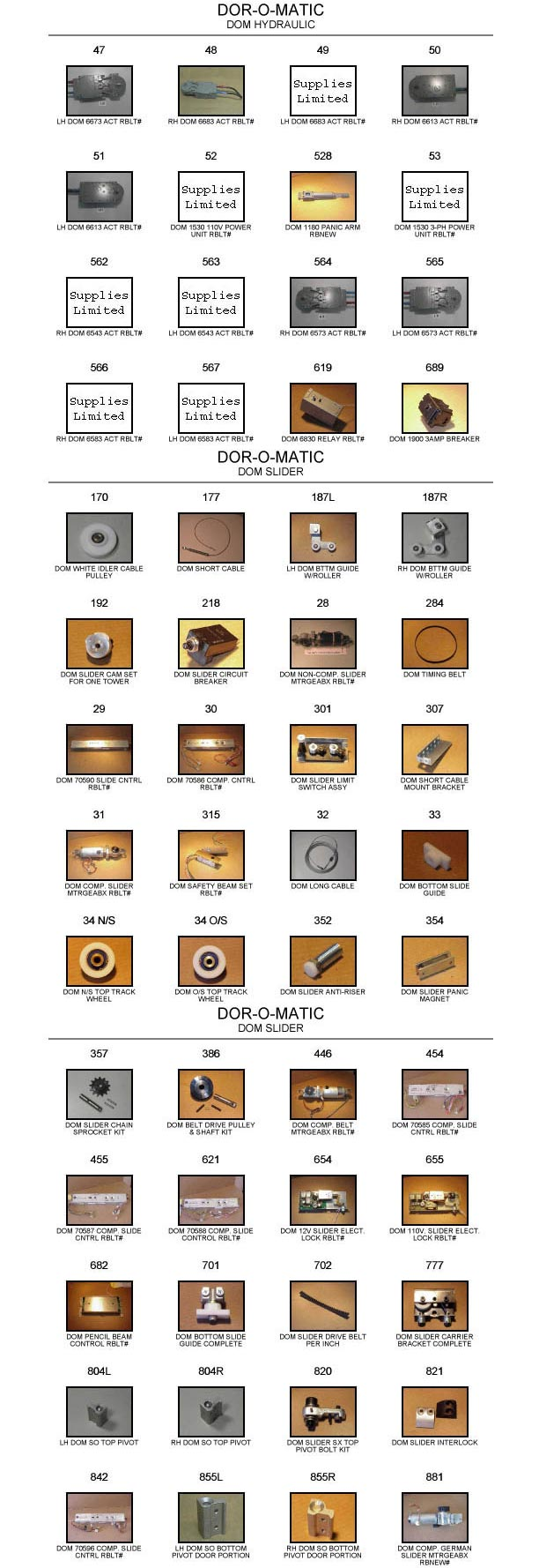 Gyrotech Replacement Door Parts Catalog 2