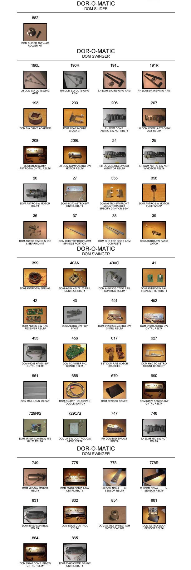 Gyrotech Replacement Door Parts Catalog 3