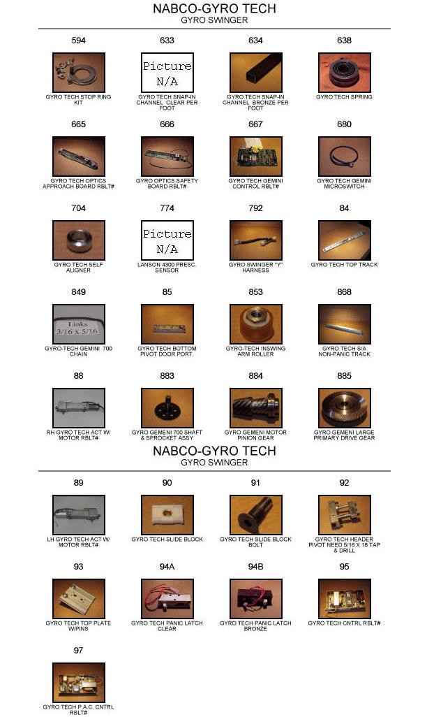 Gyrotech door replacement part catalog 2