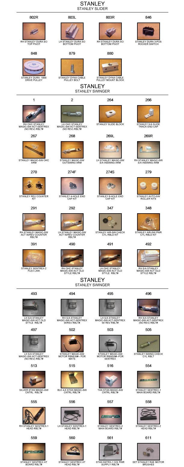 Stanley door replacement part catalog 4